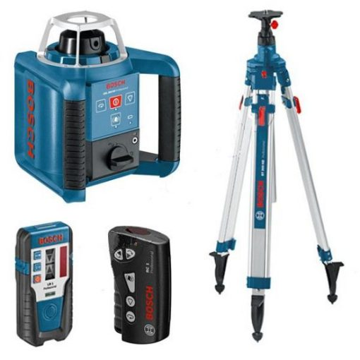 BOSCH GRL 300 HV Set rotációs lézer + BT170 HD állvány + GR240 mérőléc