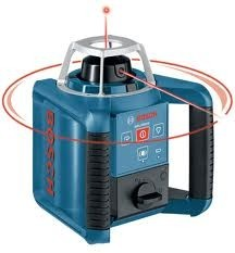 Bosch GRL300HV forgólézer falitartóval + DLE 40 lézeres távolságmérő +távirányító