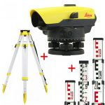 Leica NA332 optikai szintező csomag állvánnyal és léccel